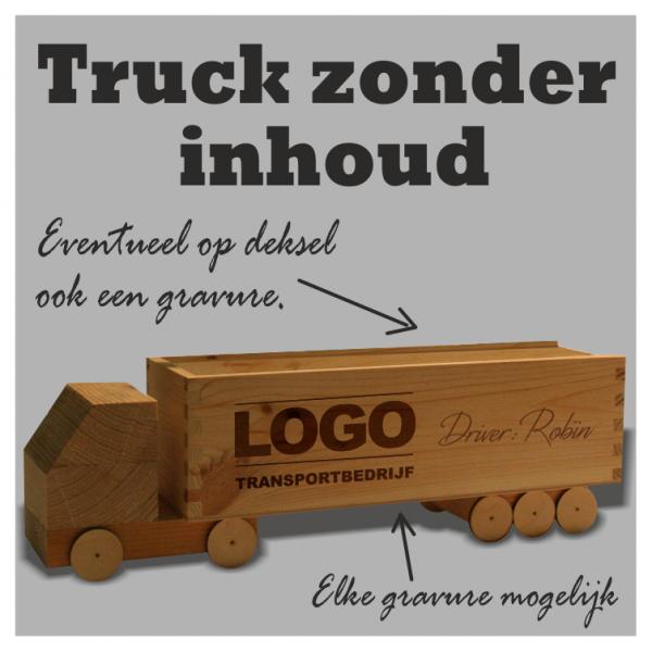 houten bier truck met naam en logo